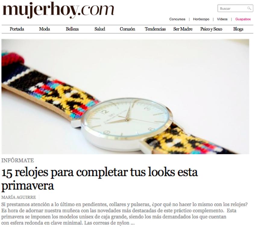 El Mercado de la Vida en Mujer de Hoy relojes EMV S14